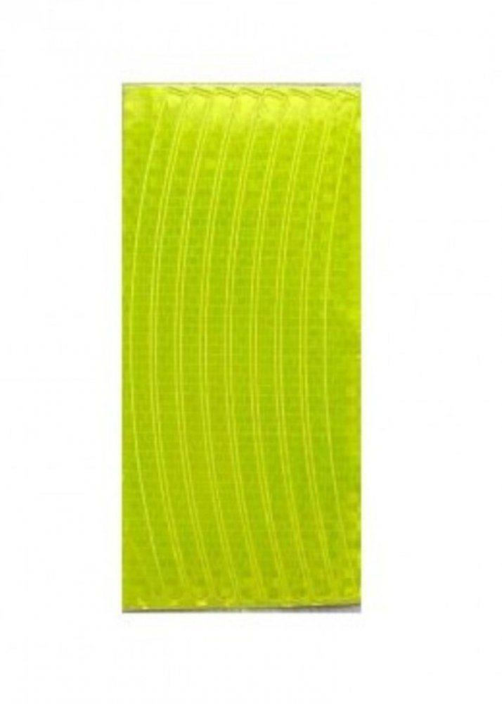 Набор светоотражающих накладок на обод велосипеда, цвет желтый, 8 шт.